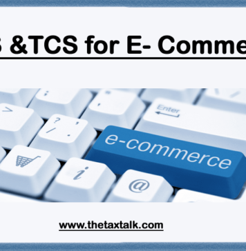 TDS & TCS for E- Commerce